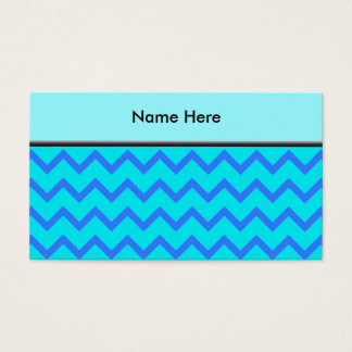 Blue and Teal Zigzag Pattern. Business Card