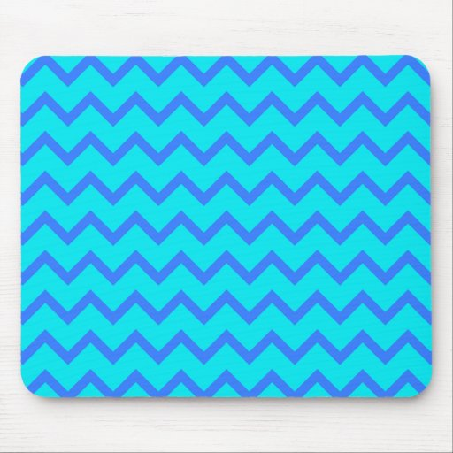 Blue and Teal Zigzag Pattern. Mousepad