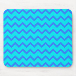 Blue and Teal Zigzag Pattern Mousepad