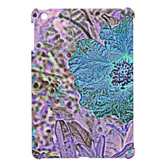 BLUE AND  VIOLET FLORAL iPad MINI CASE