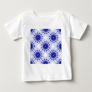 Blue and while flower pattern baby T-Shirt