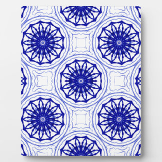 Blue and while flower pattern plaque