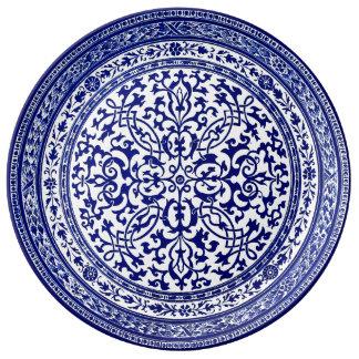 Blue And White 16th Century Roman Design Plate