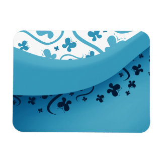 Blue and White Abstract Butterflies Magnets