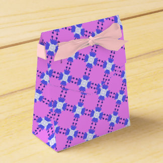 Blue and White Abstract Favour Box