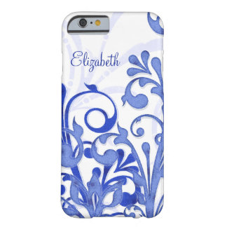 Blue and White Abstract Floral iPhone 6 case