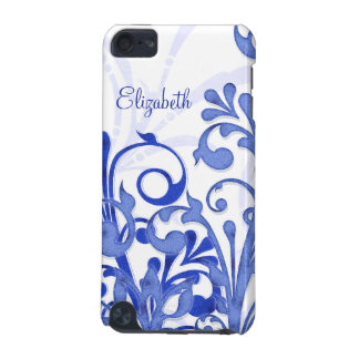 Blue and White Abstract Floral iPod Touch 5G Case