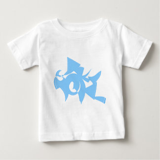 Blue and White Abstract Geometric Graphic. Baby T-Shirt
