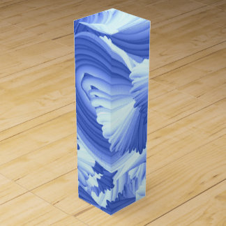 Blue and White Abstract Wine Gift Box