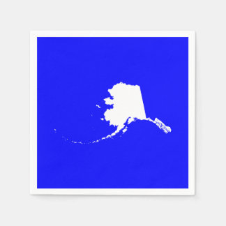 Blue and White Alaska Disposable Napkin