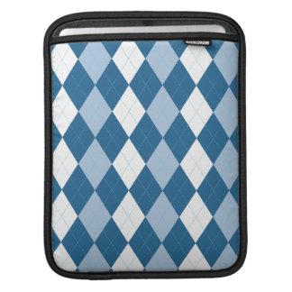 Blue and White Argyle Rickshaw iPad Sleeve