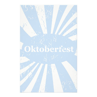 Blue and white background stationery
