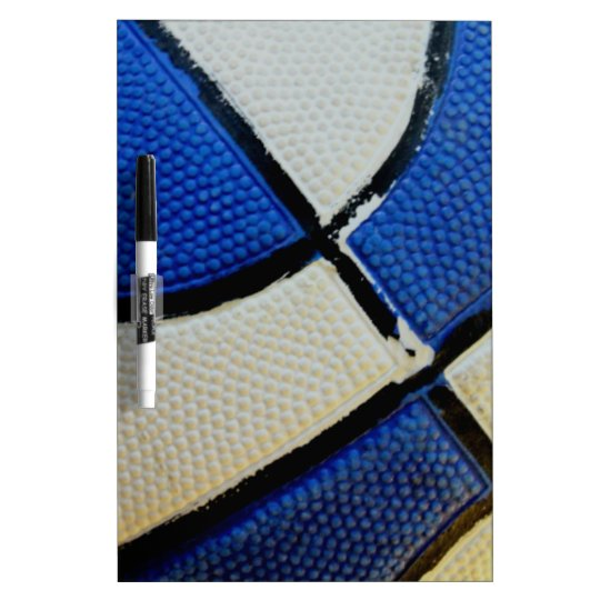 Blue and White Basketball Dry Erase Board