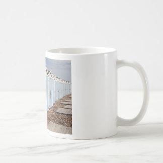 Blue and White Beach Huts Coffee Mug