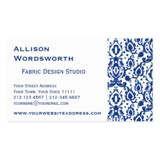 Blue and White Casbah Damask Pack Of Standard Business Cards