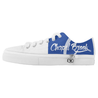 blue and white chapel brook canvas shoes printed shoes
