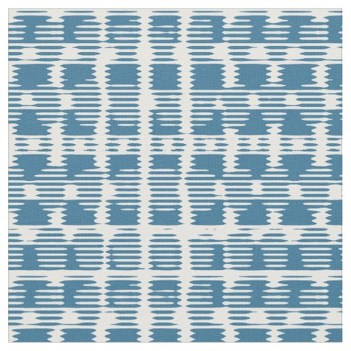 Blue and White Check Combed Cotton Fabric