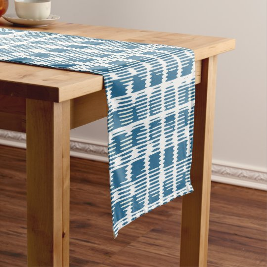 Blue and White Check Table Runner