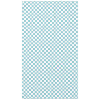 Blue and White Checkered Squares Tablecloth