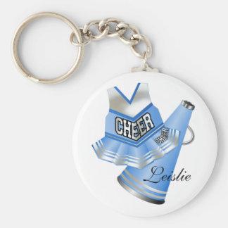 Blue and White Cheerleader KeyChain