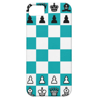 Blue and White Chessboard Phone Case iPhone 5 Case
