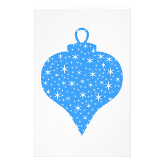 Blue and White Christmas Bauble Design. 14 Cm X 21.5 Cm Flyer