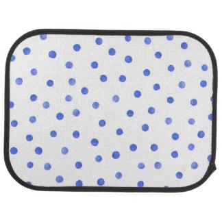 Blue and White Confetti Dots Pattern Car Mat
