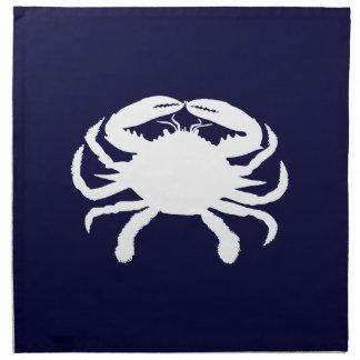 Blue and White Crab Shape Napkin