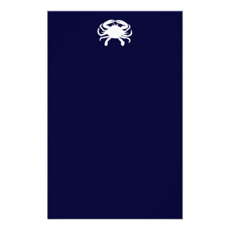 Blue and White Crab Shape Stationery