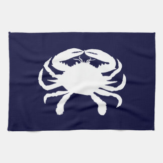 Blue and White Crab Shape Tea Towel