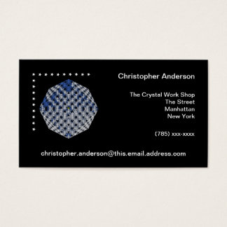 Blue and White Crystal with Stars Business Card
