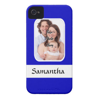 Blue and white custom photo iPhone 4 cover
