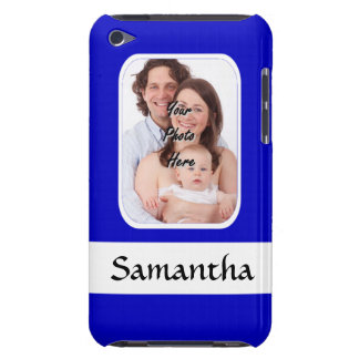 Blue and white custom photo iPod touch case