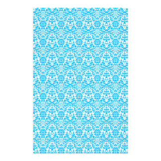 Blue and White Damask Craft Paper Customized Stationery