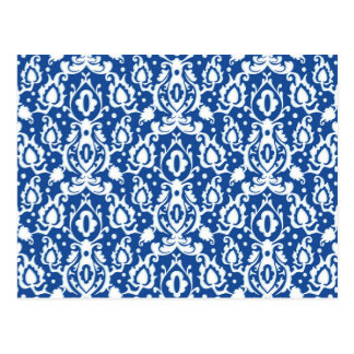 Blue and White Damask Postcard
