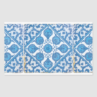 Blue and White Delft Cornflower Sticker