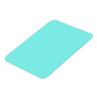 Blue and White Diagonal Stripes Rectangular Photo Magnet