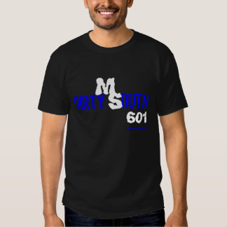 BLUE AND WHITE DIRTY SOUTH SHIRT