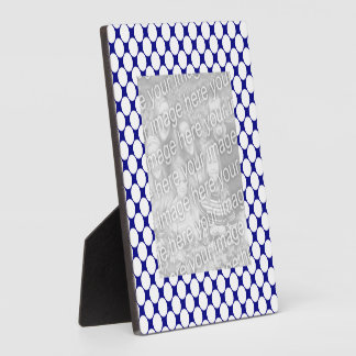 Blue and White Dots Plaque