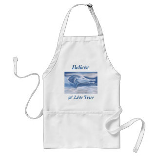 Blue and White Dragon Adult Apron