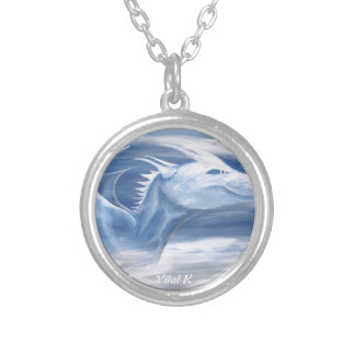 Blue and White Dragon Necklaces