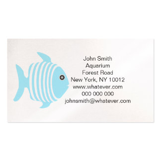 Blue And White Fish Aquarium Pack Of Standard Business Cards