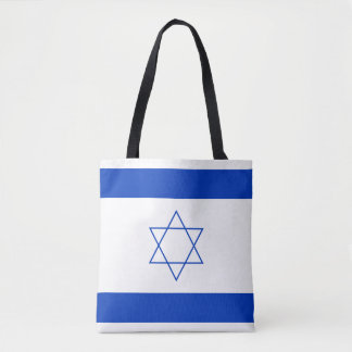 Blue and White Flag of Israel Tote Bag