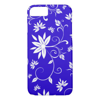 Blue and white floral. iPhone 8/7 case