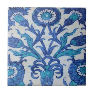 Blue and white floral Ottoman era tile design