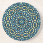 Blue And White Floral Pattern Beverage Coasters