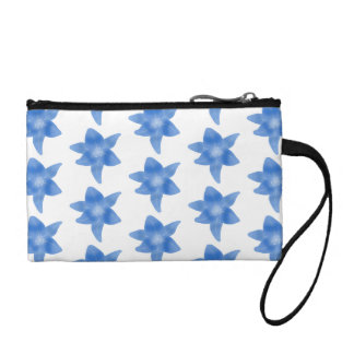 Blue and White Floral Pattern. Coin Purse