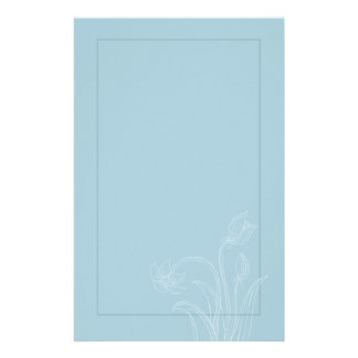 Blue and White Floral Wedding Stationary Personalized Stationery