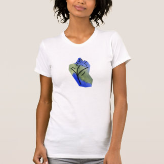 BLUE AND WHITE FLOWER tee