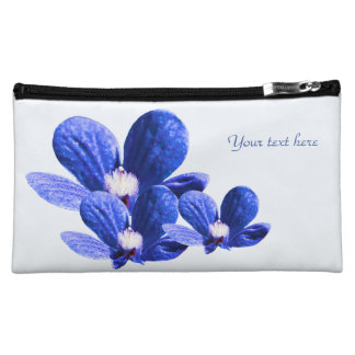 Blue and White Flowers Makeup Bag